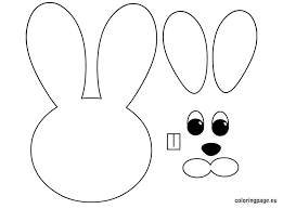 Small Picture Easter Bunny template Easter Pinterest Easter bunny template