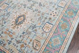 shabby chic teal blue pink area rug woodwaves
