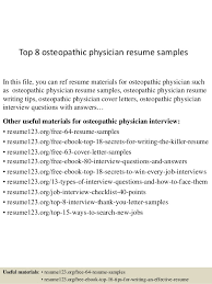 Physician Resume Sample Gorgeous Top 48 Osteopathic Physician Resume Samples