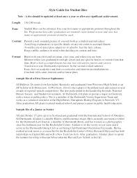 Personal Biography Sample Syncla Co