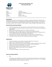 Logistics Responsibilities Resume Free Resume Example And