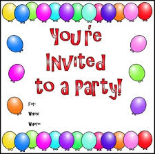 Invitation Clipart Image Balloon Border On A Party Invitation