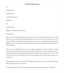 accept a job offer best formal letter template free sample example format in of