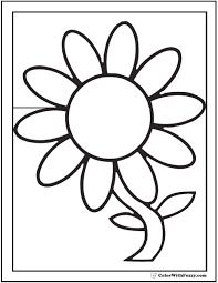Daisy Coloring Pages Flower Online Page Color Daisies