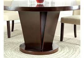 dining room table mirror top:  cm round top solid wood with mirror dining table set espresso