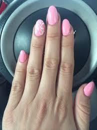 Acrylic Nail Designs Oval Nail Design Light Pink Nail Design Acrylic Oval Nail