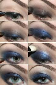 eye shadow blue smokey
