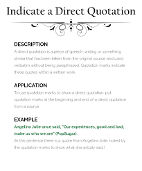 Direct Quotes How To Use Quotation Marks The Visual Communication Guy Designing