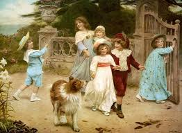 ble on arthur john elsley paintings english countryside children playing with their dogs and cats find this pin and more on charles burton barber
