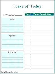 Downloadable Daily Planner Extraordinary Time Schedule Excel Template