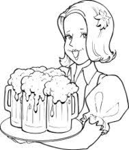 34225086 waitress beer tray the waitress holding a tray of drink, vector illustration premium on job description template for a waitress