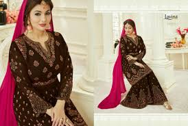 Heavy Designer Suits Wholesale Ethnic Export Lavina Vol 54 Heavy Designer Sarara Bottom