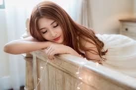 壁紙アジア人茶色の髪の女性髪髪型少女ダウンロード写真