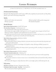 004 Create Resume Template Ideas Standard Professional Retail Sales