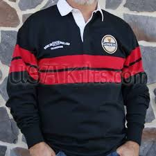 red and black guinness rugby shirt