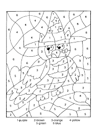 number coloring pages for toddlers color by number coloring pages free as well as number coloring