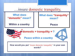 Ensure Domestic Tranquility Wednesday October 22 Nd Please Get Your Writing Folders Spirals