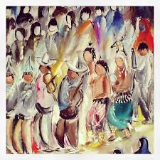 degrazia paints the yaqui easter ceremony in 1967 degrazia created this collection of forty paintings
