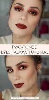 houston beauty ger uptown with elly brown shares a two toned eyeshadow tutorial and how