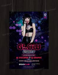 glow flyer glow party free psd flyer template stockpsd net free psd