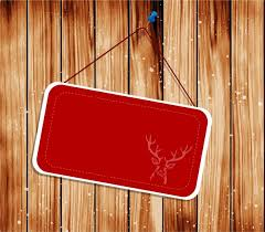 Signboard Template Signboard Template Red Chirstmas Decoration Reindeer Silhouette Free