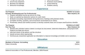 Tax Preparer Resume Samples Tax Preparer Resume Sample For Word Job 36228