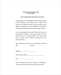 Simple Nda Template 17 Basic Confidentiality Agreement Templates Free Sample