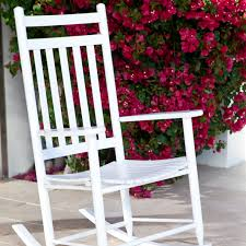 white rocking chair helps your infant fall asleep kndecor c coast indoor outdoor mission slat ndeqzvg