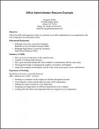 Resume Example Sample Resume For First Job No Experience Resume