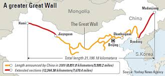 great wall extended to ancient korea