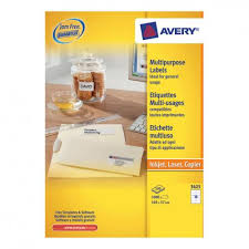 avery sheet labels avery multipurpose labels laser copier inkjet 10 per sheet 105x57mm white 3425 1000 labels