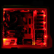 Red Pc Case Lighting Details About Red Led Light Strip Computer Lighting With Magnetic For Computer Case Lights Kit