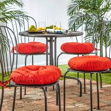 patio furniture outdoor cushions pillows 15 inch round outdoor salsa bistro chair cushion set of 4 15