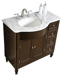 38 modern single sink bathroom vanity with white marble