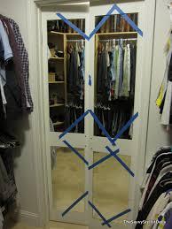 DIY Mirrored Closet Door Makeover  S