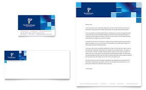 Letterhead Format Word Mesmerizing Technology Consulting IT Business Card Letterhead Template
