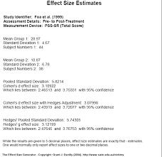 Effect Size Generator