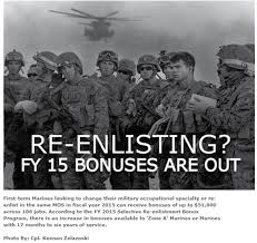 Fy 15 Re Enlistment Bonuses Are Out Usmc Life