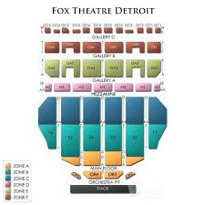 Fox Theater Detroit Interactive Seating Chart Fox Theater Detroit Seating Chart With Seat Numbers
