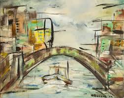 acrylic painting the bridge