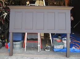 Five Panel Door Headboard 5 Panel Door Headboard Made With Legs By Vintage Headboard Flickr