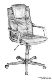 office chair drawing. example of gesture drawing moving towards the contour line office chair