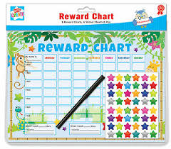 6 Jungle Themed Childrens Reward Charts With Star Stickers