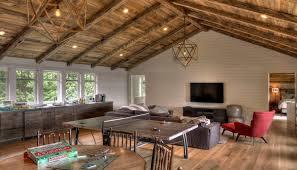 cdn homedit com wp content uploads 2016 09 media center room with rustic vaulted ceiling jpg