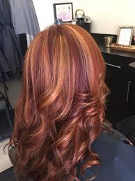 Red Hair With Blonde Highlights And