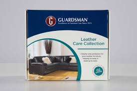 guardsman leather furniture care kit with cleaner conditioning