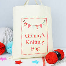personalised granny s knitting bag