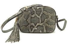 gucci 308364. gucci 308364 soho python leather disco shoulder bag gray used excellent++ rare gucci