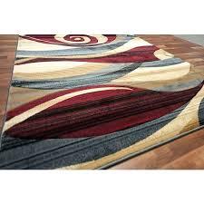 swirl rug brown swirl rug modern area rug red beige blue brown wave swirls living room