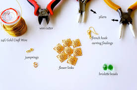 oyindoubara diy blossom chandelier earrings tools